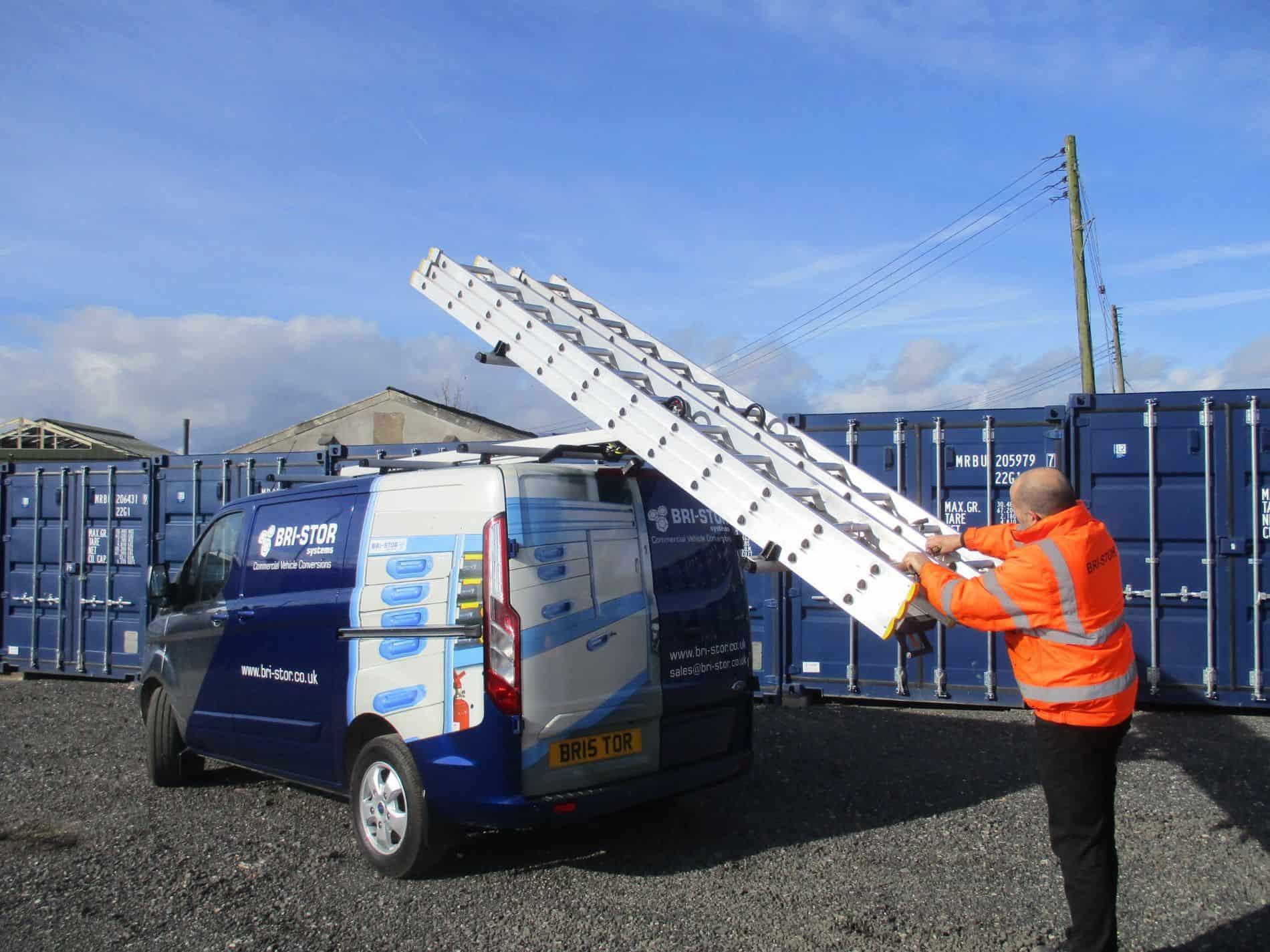 van ladder storage