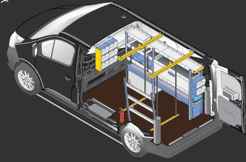 Housing van racking