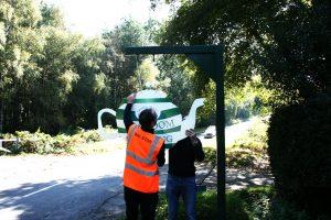 Tea Pot Sign install